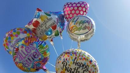 Luftballons zum Geburtstag