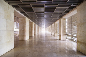 Beautiful Istiqlal mosque with floor marble