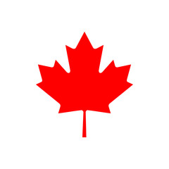 Maple leaf, the symbol of Canada. Vector illustration