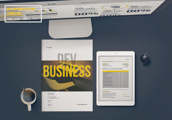 Business Plan Layout with Yellow Accents
