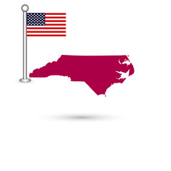 Map of the U.S. state of North Carolina on a white background. A