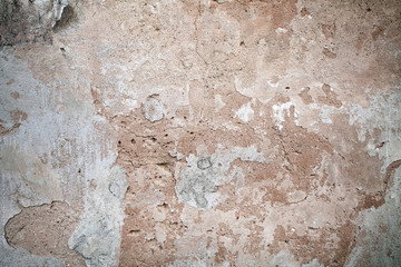 Stucco surface background. Colorful plaster wall. Grunge scratched concrete panel