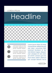 Editable Vector. A4 Business Book Cover Layout Design Template for Portfolio, Brochure, Annual Report, Flyer, Magazine, Academic Journal, Poster, Monograph