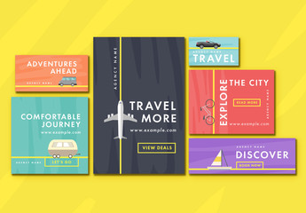 6 Travel Agency Web Banner Layouts