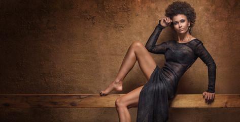 Fashionable afro woman posing.
