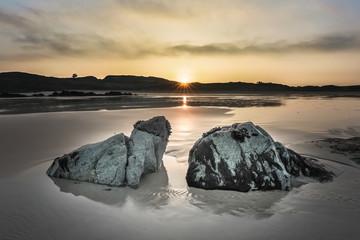 Bretagne - rochers sur la plage