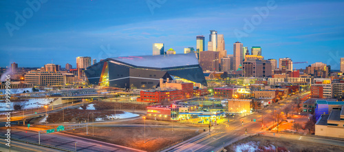Fotomurales Minneapolis downtown skyline in Minnesota, USA