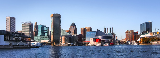 Baltimore Downtown Skyline Panorama