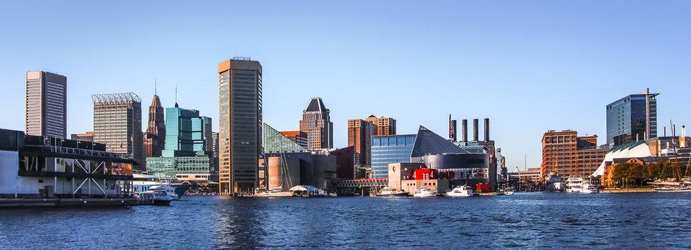Baltimore Downtown Skyline Panorama