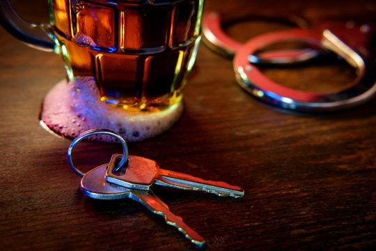 Alcohol Keys Handcuffs