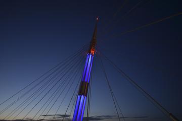 Ponte del Mare Pescara at Night, Abruzzo, Italy