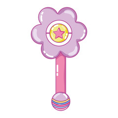 flower rattle baby toy play