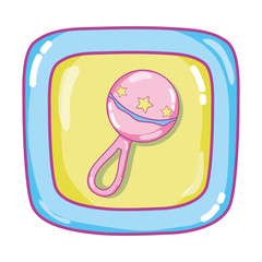 rattle picture baby cube toy