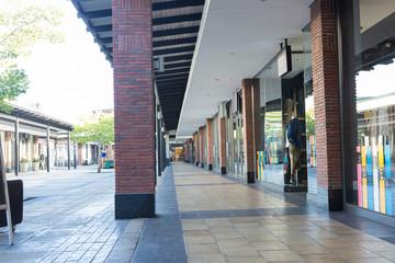 Courtyard of a shopping centre
