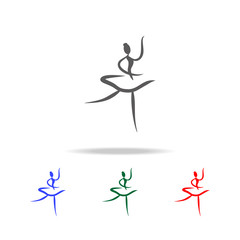 ballerina icon. Elements of dance multi colored icons. Premium quality graphic design icon. Simple icon for websites, web design, mobile app, info graphics