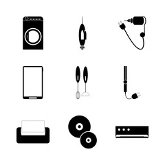 icon Technology with phone , space, tousch, cut and business