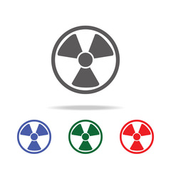 radiation symbol icon, mobile, info graphics. Elements of desister multi colored icons. Premium quality graphic design icon. Simple icon for websites, web design, mobile app
