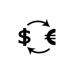 exchange dollar euro icon. Element of communism illustration. Premium quality graphic design icon. Signs and symbols collection icon for websites, web design, mobile app