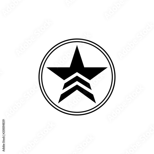 a military star in a circle icon  Element of communism