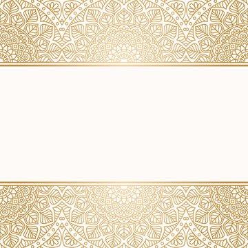 Invitation card with mandala.