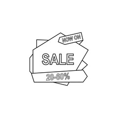 20-50 discount on the tape icon. Element of sale signs for mobile concept and web apps. Thin line icon for website design and development, app development. Premium icon