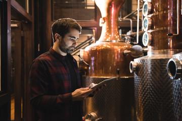 Man working in beer factory