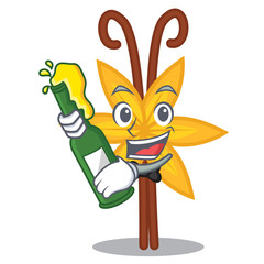 Beer vanilla mascot cartoon style