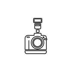 professional photo camera icon. Element of photo and video camera for mobile concept and web apps. Thin line  icon for website design and development, app development. Premium icon