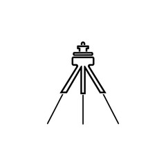 tripod for camera icon. Element of photo and video camera for mobile concept and web apps. Thin line  icon for website design and development, app development. Premium icon