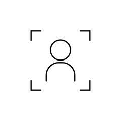 sign portrait icon. Element of photo and video camera for mobile concept and web apps. Thin line  icon for website design and development, app development. Premium icon