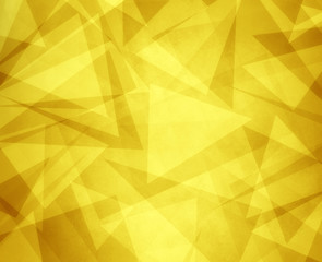 abstract yellow gold background with triangles and rectangle shapes layered in contemporary modern art design