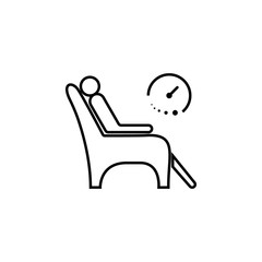 waiting in a chair icon. Element of medicine for mobile concept and web apps. Thin line  icon for website design and development, app development. Premium icon