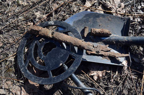 Soviet bayonet sheath remains of WWII Found with metal detector near