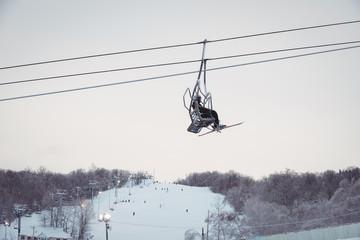 Man on ski lift