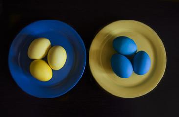 натюрморт с пасхальными яйцами