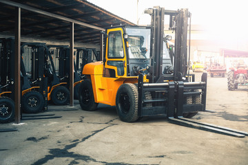 Reliable heavy loader, forklift truck. Heavy duty equipment