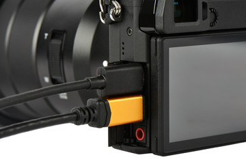 Terminals on a digital camera body