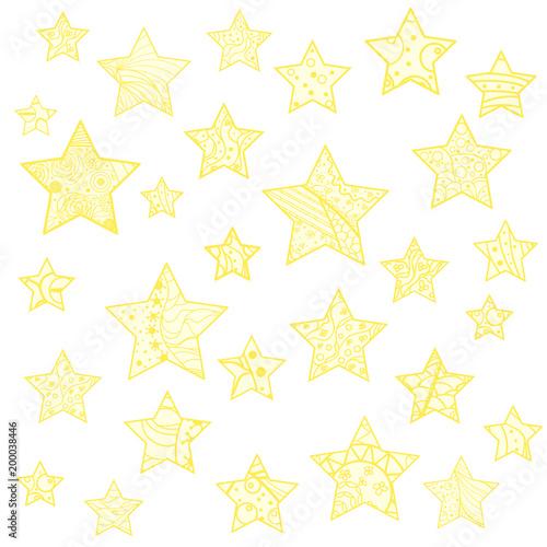Star  Set of zentangle stars  Zen art  Design Zentangle  Art