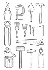 Repair tool sketch for construction and carpentry