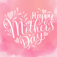 Happy mother Day lettering. Greeting Card Design. Hand Drawn Text