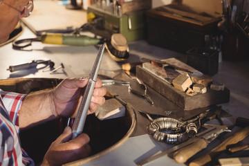 Goldsmith measuring ring