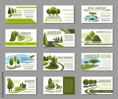 Landscape design studio business card template stock image and landscape design studio business card template reheart Gallery
