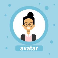 Japanese Woman Avatar Businesswoman Profile Icon User Image Female Face Flat Vector Illustration
