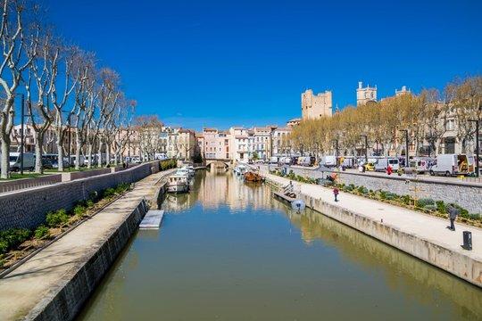 Canal de la Robine, Narbonne, Occitanie, France.