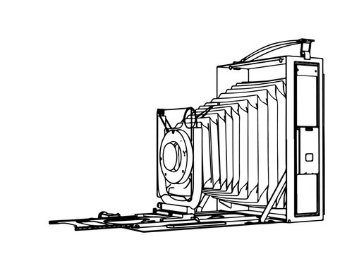 outline retro vector camera