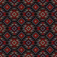Ethnic boho seamless pattern. Traditional ornament. Geometric background. Tribal pattern. Folk motif. Textile rapport.