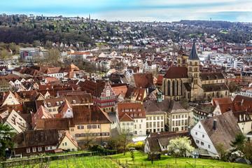Esslingen Germany top view