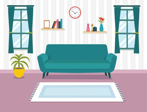Modern design Living room interior.