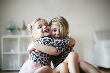 In hug.