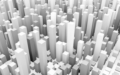 cubes city concept